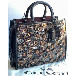 NWT Coach Rogue with Leather Sequins